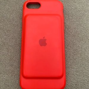 Red iPhone 7 Battery Charging Case